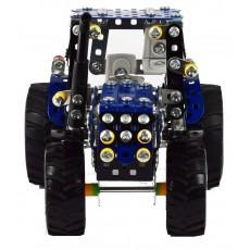 Tractor New Holland T4 con remolque volquete - kit construcción metal 744 piezas - Escala 1:32 - Tronico 10056
