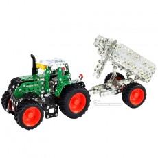 Tractor Fendt 313 Vario con remolque - kit de construcción de metal 759 piezas - Escala 1:32 - Tronico 10021