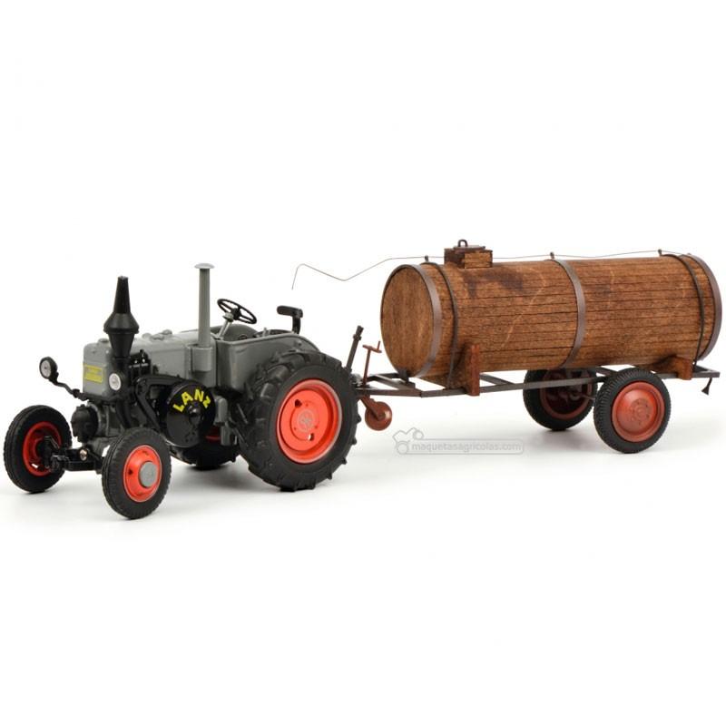 Tractor Lanz Bulldog con cuba de estiércol - Miniatura 1:32 - Schuco 450769400
