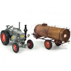 Tractor Lanz Bulldog con cuba de estiércol - Miniatura 1:32 - Schuco 450769400 separados