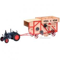 Tractor Lanz Bulldog con trilladora - Miniatura 1:32 - Schuco 450898900