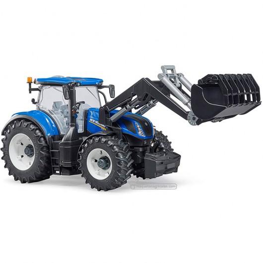 Tractor New Holland T7 315 con pala - Miniatura 1:16 - Bruder 03121