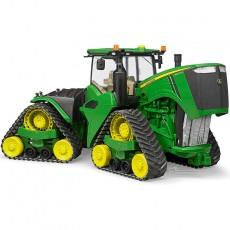 Tractor John Deere 9620RX oruga - Miniatura 1:16 - Bruder 04055 con el capó del motor abierto