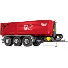 Remolque Krampe Hook Lift THL 30L contenedor 3 ejes Big Body 750 - Miniatura 1:32 - Wiking 077826