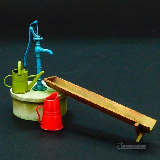 Kit Bomba de agua y complementos - Para Maquetar - Miniatura 1:35 - Plus Model 532