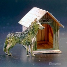 Kit perro con casa - Para Maquetar - Miniatura 1:35 - Plus Model 423