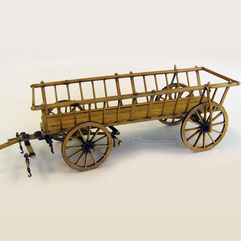 Kit carro de caballos para acarrear paja - Para Maquetar - Miniatura 1:35 - Plus Model 385