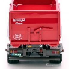 Remolque Krampe Hook Lift THL 30L contenedor 3 ejes Big Body 750 - Miniatura 1:32 - Wiking 077826 detalles posteriores.