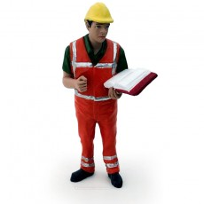 Figura de operario inspeccionando el trabajo - Miniatura 1:32 - ADF 32142