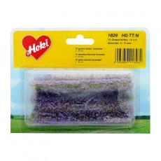 10 Tiras de hierba lavanda de 10 cm de largo y 6 mm de alto - Miniatura Heki 1826 blister