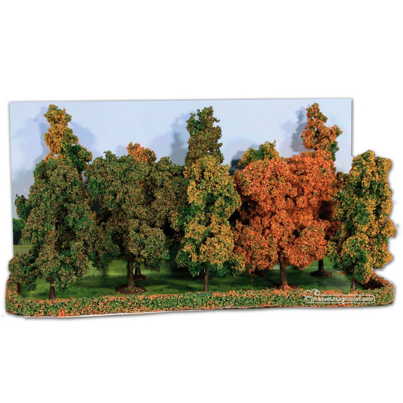 10 Árboles otoñales de 10 a 18 cm - Miniatura Heki 2000