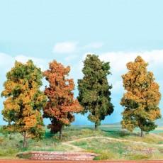 4 Árboles otoñales de 18 cm - Miniatura Heki 2001