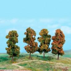 4 Árboles otoñales de 11 cm - Miniatura Heki 2002
