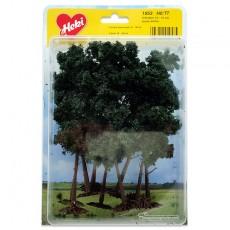 9 Pinos de 10 a 16 cm - Miniatura Heki 1953 blister