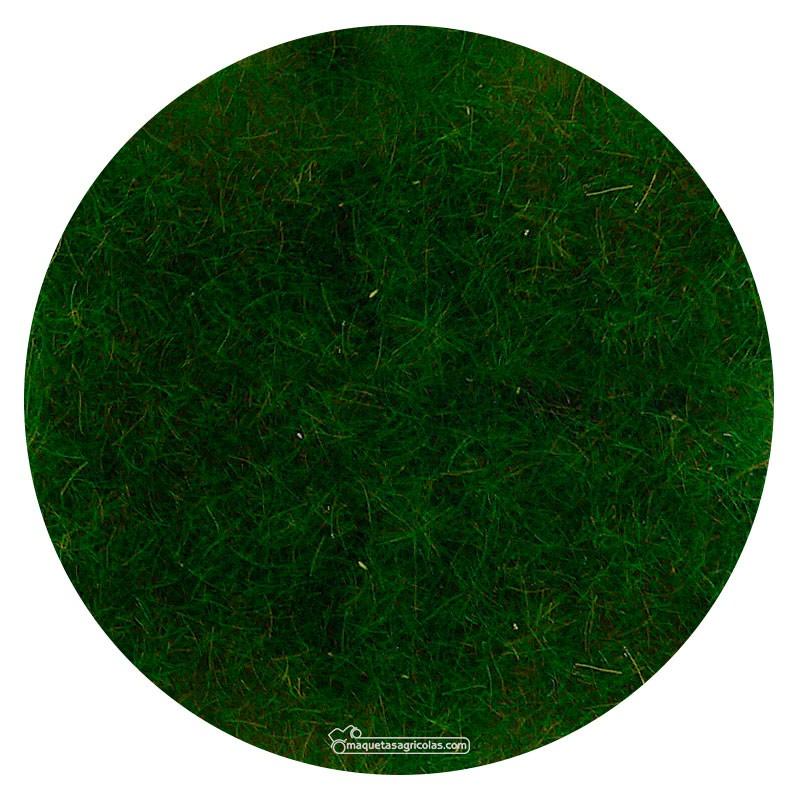 Manta que simula prado verde oscuro con hierba salvaje 28x14 cm - Miniatura Heki 1577