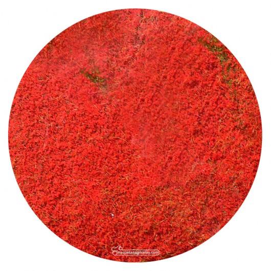 Manta que simula flores rojas 28x14 cm - Miniatura Heki 1588