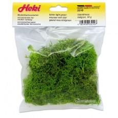 Musgo de Islandia verde claro 30 gr - Miniatura Heki 3210 envase.