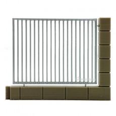 1 Muro con verja metálica - miniatura 1:32 - Minimaker MEMU