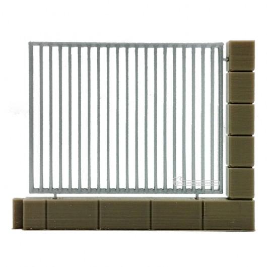 Muro con verja metálica - miniatura 1:32 - Minimaker MEMU