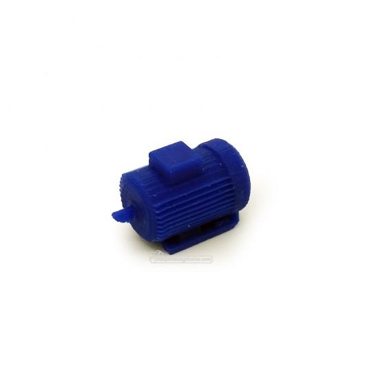Motor eléctrico 37KW azul - miniatura 1:32 - Minimaker BUMOT37