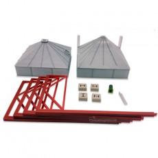 Tolva de pienso de 44m³ gris - miniatura 1:32 - Minimaker BCGG44