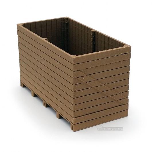 Contenedor Palox de madera - miniatura 1:32 - Minimaker WOPALO2412