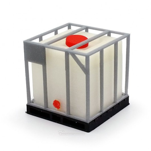 Tanque de combustible sobre palet de PVC y rejilla - miniatura 1:32 - Minimaker CIGP10