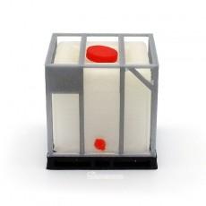 Tanque de combustible sobre palet de PVC y rejilla - miniatura 1:32 - Minimaker CIGP10 frontal
