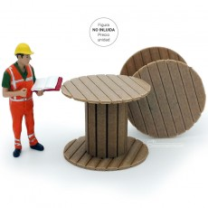 Carrete de cable de madera - miniatura 1:32 - Minimaker WOTO15 ejemplo