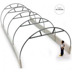 Estructura túnel de 5 arcos  miniatura 1:32 - Minimaker TUN612 montada