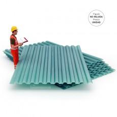 Plancha acanalada para techos verde - miniatura 1:32 - Minimaker TGN343