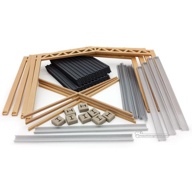 Cobertizo de madera de doble pendiente miniatura 1:32 - Minimaker HB60918