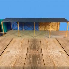 Cobertizo de madera de doble pendiente miniatura 1:32 - Minimaker HB60918 ejemplo de construcción