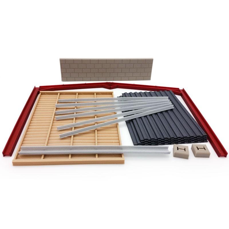 Extensión para almacén revestido de madera  miniatura 1:32 - Minimaker KHMB609