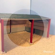 Extensión para almacén revestido de madera  miniatura 1:32 - Minimaker KHMB609 ejemplo