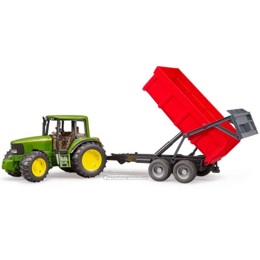 Tractor John Deere 6920 con remolque basculante - Miniatura 1:16 - Bruder 02057