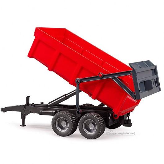 Remolque 2 ejes rojo - Miniatura 1:16 - Bruder 02211