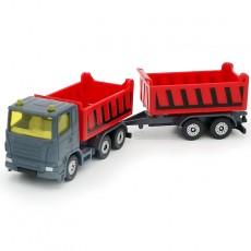 Camión con volquete y remolque basculante - Miniatura - Siku 1685