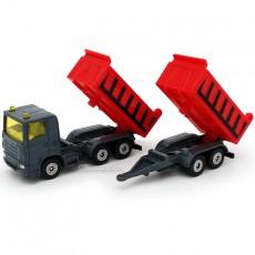 Camión con volquete y remolque basculante - Miniatura - Siku 1685 separados