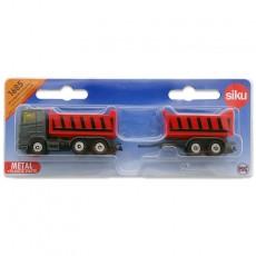 Camión con volquete y remolque basculante - Miniatura - Siku 1685 blister