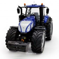 Tractor New Holland T8.435 Blue Power con ruedas Vredestein - Miniatura 1:32 - 72MM002 vista frontal