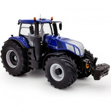 Tractor New Holland T8.435 Blue Power con ruedas Vredestein - Miniatura 1:32 - 72MM002 vista perfil