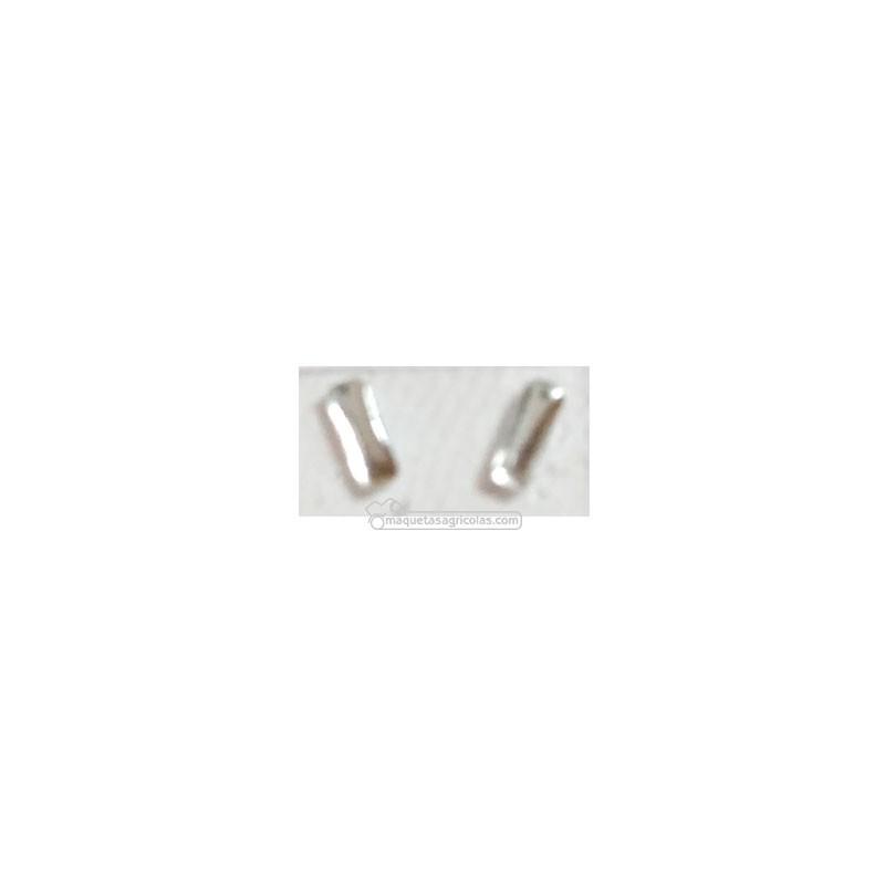 Par de pastillas de faros translúcidos rectangulares de 1x3 mm - Miniaturas 1:32 - Artisan 04370B