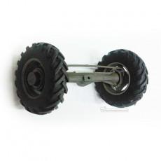 Eje puente delantero 4x4 + 2 ruedas de 38 mm - Miniaturas 1:32 para montar - Artisan 01312
