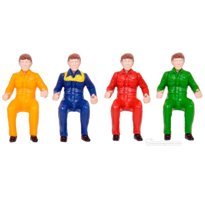 Conductores 4 uds. - Miniatura 1:32 - Britains 43203