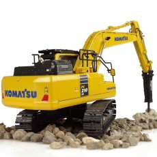 Excavadora Komatsu PC210LC-11 with hammer drill - Réplica 1:50 - UH8140 vista posterior