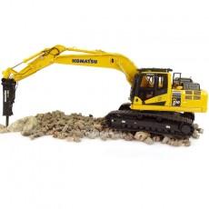 Excavadora Komatsu PC210LC-11 with hammer drill - Réplica 1:50 - UH8140 brazo extendido