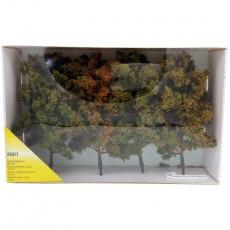 4 Árboles otoñales de 18 cm - Miniatura Heki 2001 embalaje