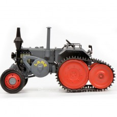 Tractor Lanz Ackerluft con oruga - Miniatura 1:32 - Schuco 450769300 vista izquierda