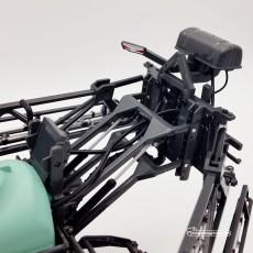 Carro pulverizador Berthoud New Raptor - Miniatura 1:32 - Replicagri REP164 detalle posterior superior